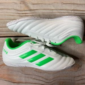 NWT Adidas Copa white With Green Size 3